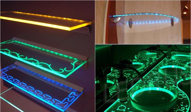 Как сделать светодиодные ленты на полку 192